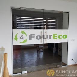 Drzwi szklane dwuskrzydłowe z nadrukiem  - Sunglass