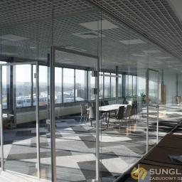 Szklane ścianki działowe - Sunglass