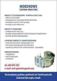 ETNA ANNA KAMIŃSKA - Kredyt konsolidacyjny Gdańsk