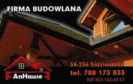 AnHause - Budownictwo Sidzina