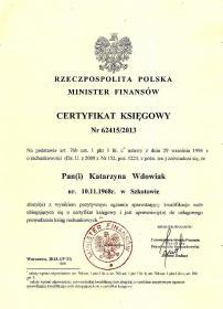 """""""KW"""" Biuro Rachunkowe Katarzyna Wdowiak - Kosztorysy, ekspertyzy Działdowo"""