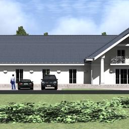 Projekt sali weselnej z zapleczem kuchennym oraz miejscami noclegowymi , Brzóze okolice Mińska Mazowieckiego.