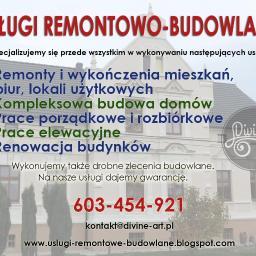 """Usługi remontowo-budowlane """"Divine-art"""" - Renowacja Sztukaterii Brzeg"""