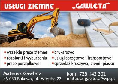 Mateusz Gawleta usługi ziemne - Układanie kostki brukowej Murów