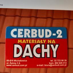 PHU CERBUD-2 ZBIGNIEW CYBULSKI - Pokrycia dachowe Michałowice
