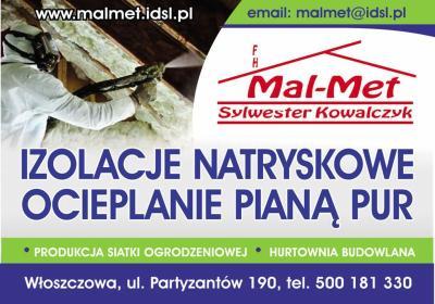 Firma Handlowa Mal-Met Sylwester Kowalczyk - Ocieplanie Pianką PUR Włoszczowa