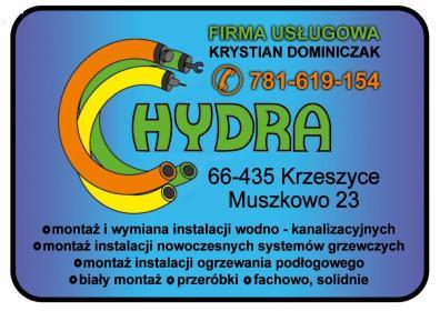 HYDRA Firma Usługowa Krystian Dominiczak - Instalacje gazowe Słońsk
