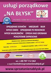 Www.SPRZĄTANIE NA BŁYSK.pl - Mycie okien w firmie Łodygowice