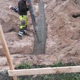 Betonowanie łąw fundamentowych