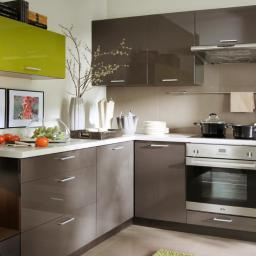 Kuchnia połysk brąz-oliwka