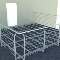 Wizualizacja konstrukcji tarasu