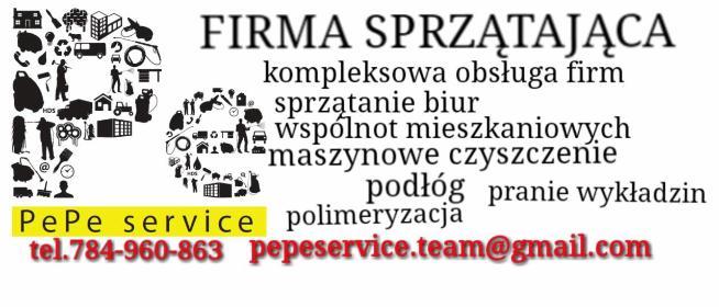 PePe service - Sprzątanie biur Warszawa