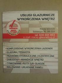 Usługi remontowe- Glazurnik - Maciej Winnicki - Malowanie Ułęż