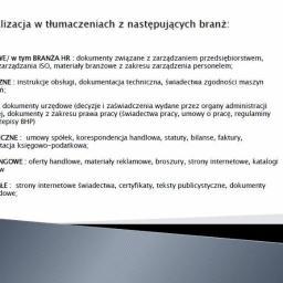 TDS pro Katarzyna Bronowicka - Tłumacze Kobierzyce