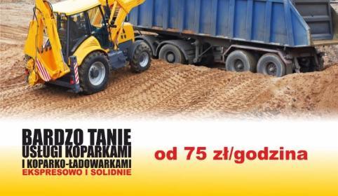 Invest Bud Tanie usługi koparkami i koparko-ładowarkami - Elektryk Łyszkowice