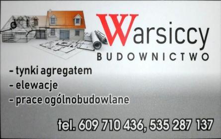 Warsiccy Budownictwo Warsicki Dariusz - Tynki Maszynowe Szepietowo