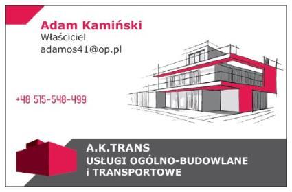 A.K TRANS ADAM KAMIŃSKI USŁUGI OGÓLNO-BUDOWLANE I TRANSPORTOWE - Malowanie Ścian Gliwice