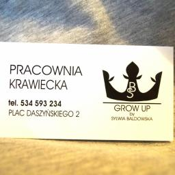 Pracownia Krawiecka GROW UP - Szycie odzieży dziecięcej Częstochowa