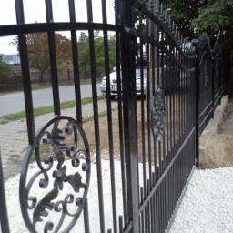 brama dwuskrzydłowa malowana proszkowo ocynkowana