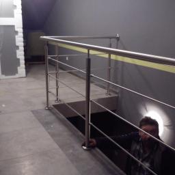 balustrada szlifowana nierdzewna