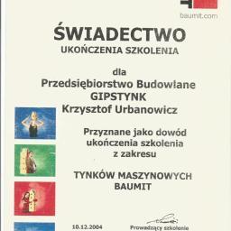 P.B Gipstynk Krzysztof Urbanowicz - Budownictwo Legnica
