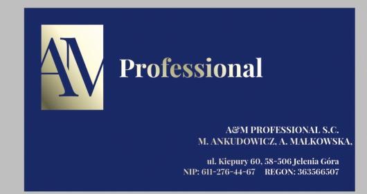 A&M PROFESSIONAL DORADZTWO, KSIEGOWOŚĆ, KADRY ANKUDOWICZ MAŁGORZATA, MAŁKOWSKA AGNIESZKA S.C. - Biuro rachunkowe Jelenia Góra