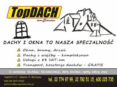Grupa Dakarska TopDACH s.c. - Pokrycia dachowe Jabłonna