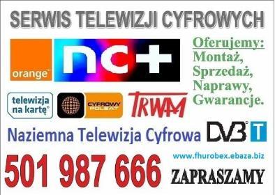 Montaż anten TV SAT 501987666 - Serwis RTV Żagań