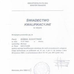 """Biuro Rachunkowe """"RACHMISTRZ"""" Bożena Augustyniak - Biuro rachunkowe Białystok"""
