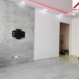 Zabudowa LED, kamień dekoracyjny, panele, ściany.