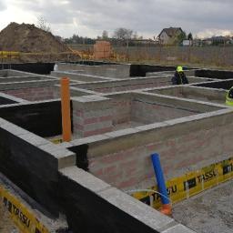 FUNDAMENTY BUDYNKU z bloczka betonowego listopad 2019r.