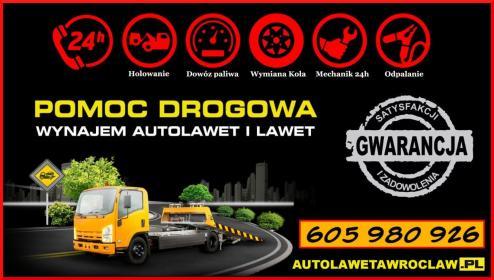 POMOC DROGOWA - WYNAJEM AUTOLAWETY - WROCŁAW - Transport międzynarodowy do 3,5t Wrocław