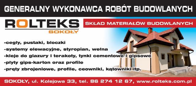 PHU Rolteks-Sokoły - Pokrycia dachowe Sokoły