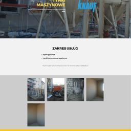 Strona wizytówka typu onepage firmy zajmującej się tynkami maszynowymi