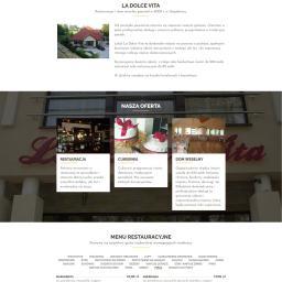 Strona restauracji z kalendarzem rezerwacji, galerią i wirtualnym spacerem