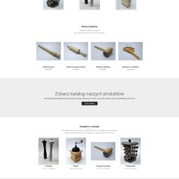 Zaawansowany sklep internetowy producenta wyrobów z drewna