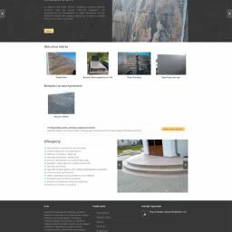 Strona galerii produktów oraz usług Zakładu obróbki kamienia