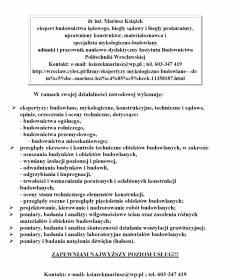 EKSPERTYZY MYKOLOGICZNO - BUDOWLANE - Ekspertyza Techniczna Wrocław