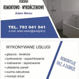 Adam Warec Usługi Remontowo-Wykończeniowe - Glazurnik Złocieniec
