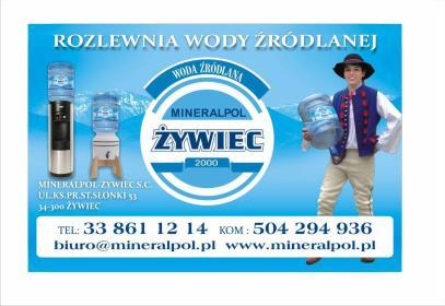 """Jedyna górska woda w galonach 18,9l z Żywca """"Mineralpol-Żywiec S.C."""" - Soki i napoje Żywiec"""