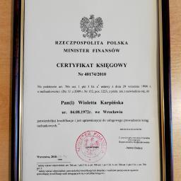 Certyfikat Ministra Finansów