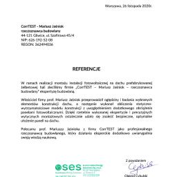 Referencje od Sustainable Energy Solutions sp. z o.o.