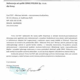 Referencje od spółki ORNO Polska
