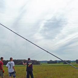 demontaż masztu pomiarowego NRG systems 40m