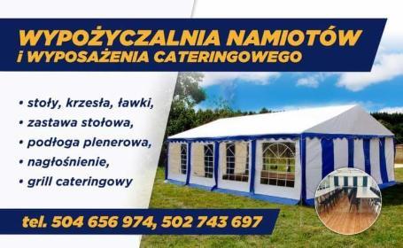 Wypożyczalnia namiotów Paweł Cholewski - Wynajem namiotów Komorowo