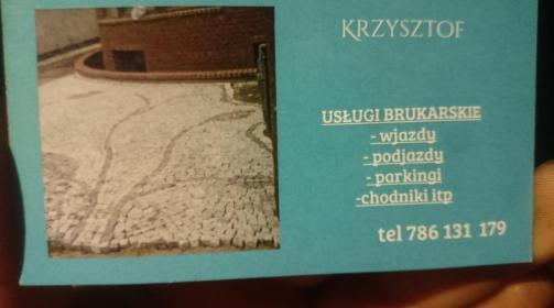 Krzysztof Wolski - Układanie kostki brukowej Prusinowo