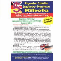Prywatna Szkółka Językowa Rikola - Nauczyciele angielskiego Żary
