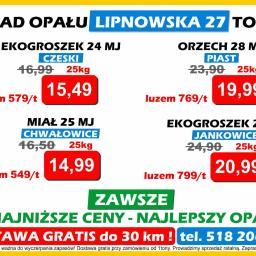 Skład Opału Lipnowska 27 - Ekogroszek Workowany Toruń