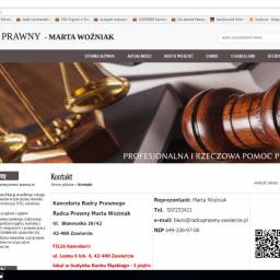 Kancelaria Radcy Prawnego Marta Woźniak - Prawo Zawiercie