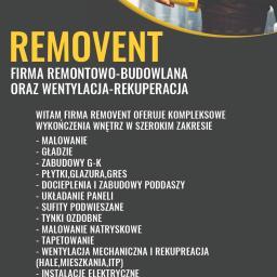 REMOVENT Firma Remontowo-Budowlana Grzegorz Ostrowski - Płyta karton gips Częstochowa